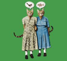 Two Cool Kitties: What's for Lunch? One Piece - Short Sleeve