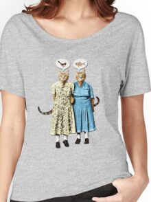 Two Cool Kitties: What's for Lunch? Women's Relaxed Fit T-Shirt