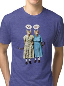 Two Cool Kitties: What's for Lunch? Tri-blend T-Shirt