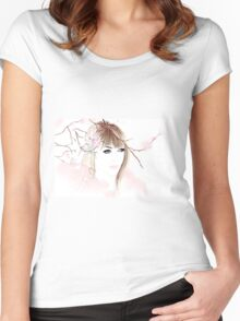 Parisian Winter Blooms Women's Fitted Scoop T-Shirt