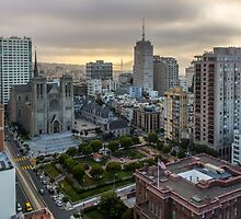 San Francisco at Dusk from Nob Hill by TomGreenPhotos
