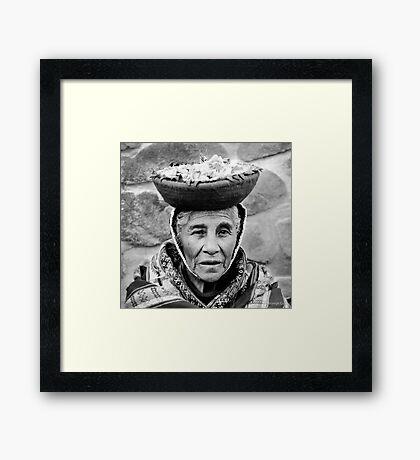 Peruvian woman Framed Print