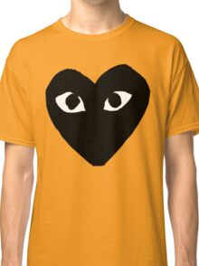 CDG Comme Des Garcons Play Love Heart BLACK Classic T-Shirt