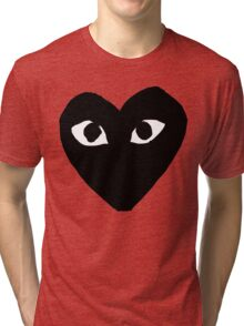 CDG Comme Des Garcons Play Love Heart BLACK Tri-blend T-Shirt