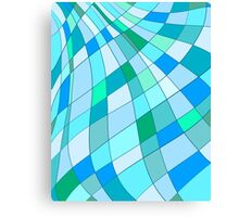 Shades of Green and Blue Canvas Print