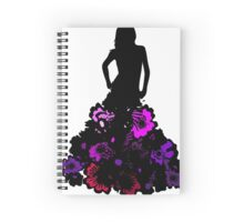Ombré flower girl Spiral Notebook