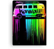 Hawaii Surfer Bus Canvas Print