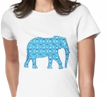 Lotus flower elephant - turquoise Womens Fitted T-Shirt