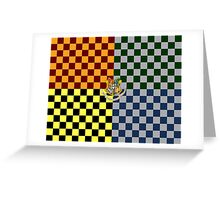 Harry Potter House Colours Greeting Card