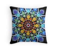 Zentangle Dot Mandala Throw Pillow