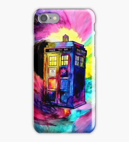 Watercolor TARDIS iPhone Case/Skin