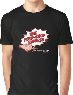 Pork Chop Express - Distressed Red Outline Variant Graphic T-Shirt