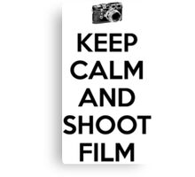 Keep calm and shoot film Canvas Print