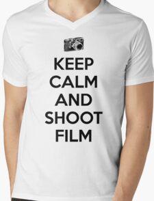 Keep calm and shoot film Mens V-Neck T-Shirt