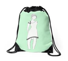 Faceless girl  Drawstring Bag