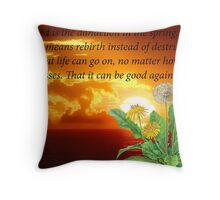 Dandelion In The Spring Throw Pillow