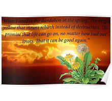 Dandelion In The Spring Poster
