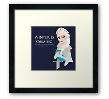 Frozen Is Coming Framed Print