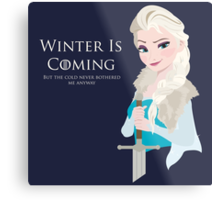 Frozen Is Coming Metal Print