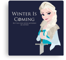 Frozen Is Coming Canvas Print