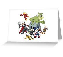 Earth's Mightiest Heroes Greeting Card