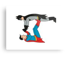 DC SUPER HEROES ( BATMAN VS SUPERMAN) Metal Print