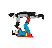 DC SUPER HEROES ( BATMAN VS SUPERMAN) Photographic Print
