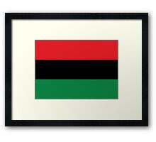 Red, Black & Green Flag Framed Print