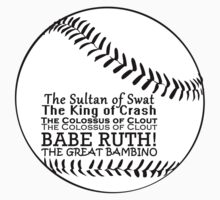 Babe Ruth and his nicknames Baby Tee