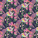 Paper Cut Birds [dark] by Lydia Meiying