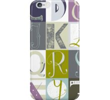 Alphabet blue/green iPhone Case/Skin