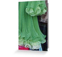 green dress Greeting Card
