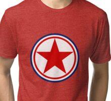 North Korean Army Seal - Red Star Tri-blend T-Shirt