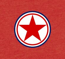 North Korean Army Seal - Red Star Tri-blend T-Shirt