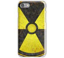 Beaten Radioactive Symbol - Hipster Geek iPhone Case/Skin