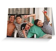 4 amigos Greeting Card