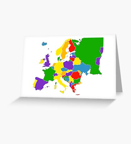 Politically Europe Greeting Card