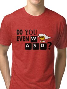 Steam PC Master Race Geek Do You Even WASD? Tri-blend T-Shirt