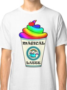Magical Unicorn Latte for a Hipster and Starbucks Frappucino Lover Classic T-Shirt
