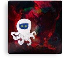 Octopus Lost in Space Canvas Print