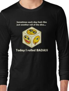 Just Another Roll of The Dice - Badass Mofo Hipster Long Sleeve T-Shirt