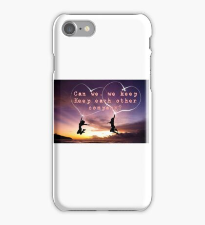 Justin Bieber - Keep each other company, Love iPhone Case/Skin