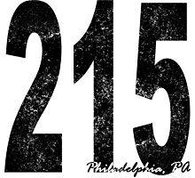 Distressed Philadelphia 215 Area Code by kwg2200