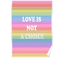 'love is not a choice' LGBT pride Poster