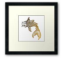 Yellow Coy Fish Sticker Framed Print
