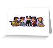 Voltron Kitties Greeting Card