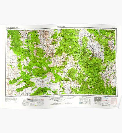 USGS TOPO Map Arizona AZ Prescott 315577 1954 250000 Poster