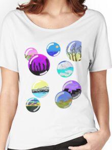 colorful landscape bubbles Women's Relaxed Fit T-Shirt