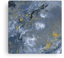 Clouded Flow - Acrylic Painting Art Canvas Print