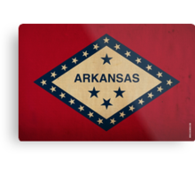 Arkansas State Flag VINTAGE Metal Print